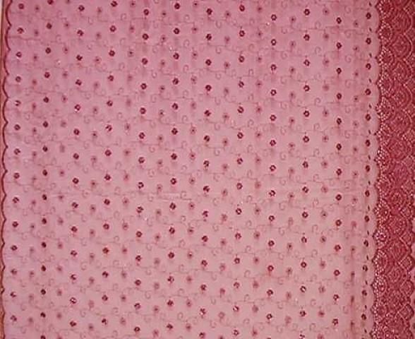 1m Lurex-Tüll 1,25m breit Farbe: Rot2