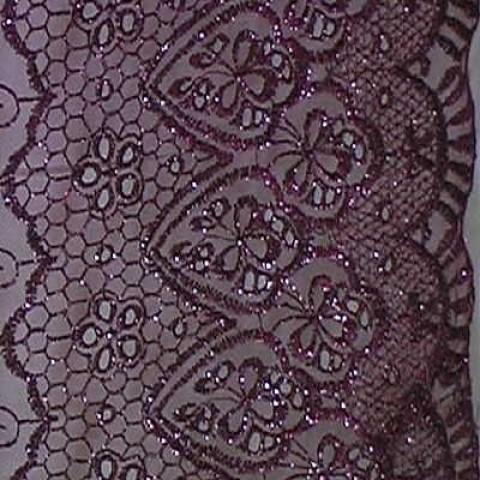 1m Lurex-Tüll 1,25m breit Farbe: Weinrot4