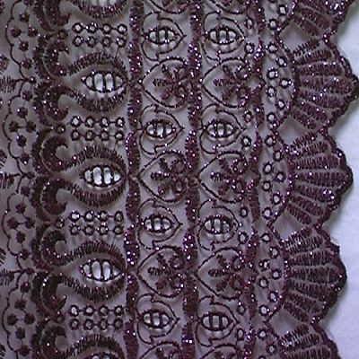 1m Lurex-Tüll 1,25m breit Farbe: Weinrot5