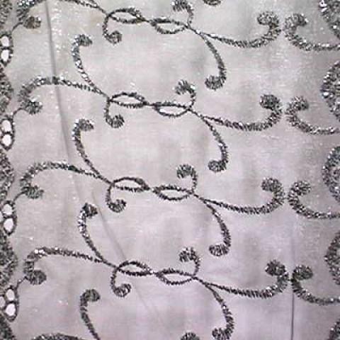 1m Lurex-Tüll 1,25 m breit Farbe: Schwarz-Silber3