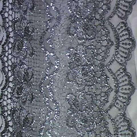 1m Lurex-Tüll 1,25m breit Farbe: Anthrazit1