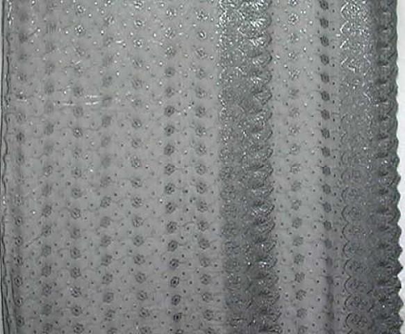 1m Lurex-Tüll 1,25m breit Farbe: Anthrazit2