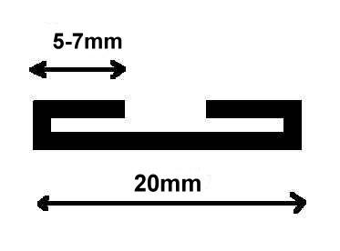 25m Satinschrägband 20mm breit Farbe: Dunkelbraun