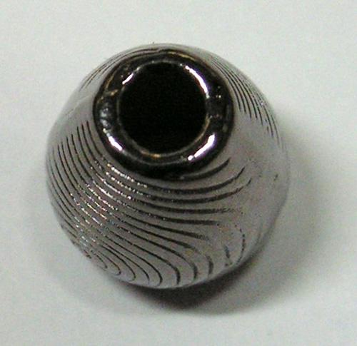 1 Kordelstopper Antikes Muster 13,4 x 10,3mm Farbe: Antik-Schwarz