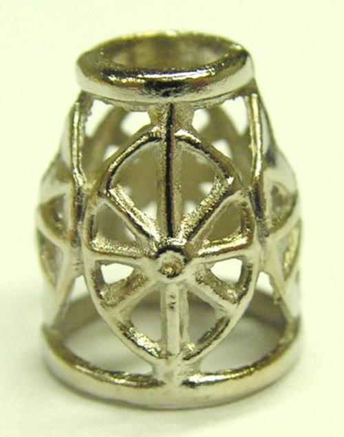 1 Kordelstopper Antikes Muster 14 x 10mm Farbe:Silber