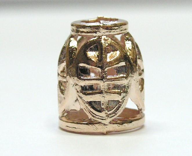 1 Kordelstopper Antikes Muster 14 x 10mm Farbe:Kupfer