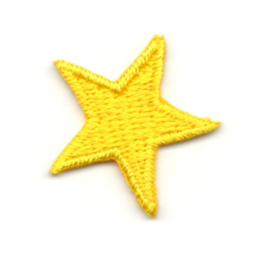 aus 21 Farben wählen! Applikation Patch Bügelbild Sticker Stern 2,2 x 2,2cm