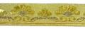 10m Mittelalter Borte Webband 35mm breit Farbe: Lurex-Gold