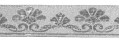 10m Mittelalter Borte Webband 35mm breit Farbe: Lurex-Silber