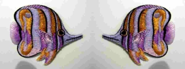 1 Paar Applikationen Patch Sticker Fische AA355-18