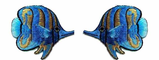 1 Paar Applikationen Patch Sticker Fische AA355-31