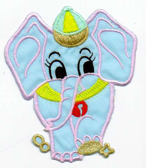 1 Applikation Elefant 9,5 x 11cm Farbe: Blau AA472-8