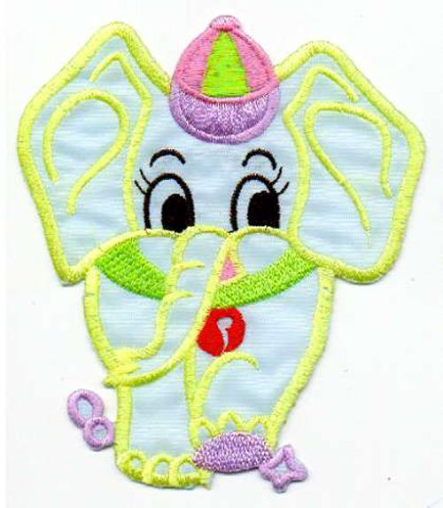 1 Applikation Elefant 9,5 x 11cm Farbe: Türkis AA472-7