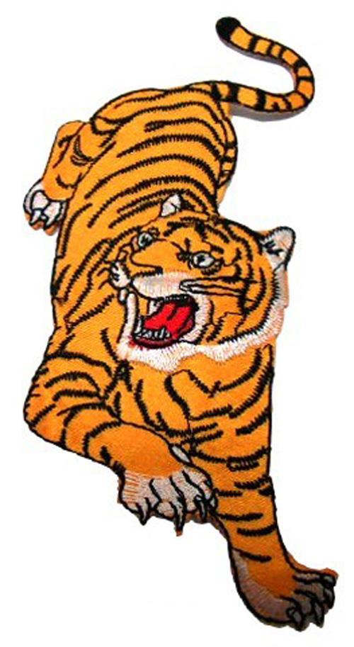 1 Applikation Tiger 6 x 13 cm AA472-17