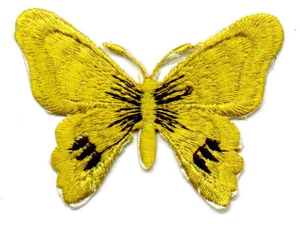 1 Applikation Schmetterling 7 x 5,5cm Farbe: Gold