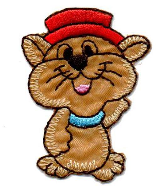 1 Applikation Maus 4 x 5,5cm Farbe: Braun AA469-12