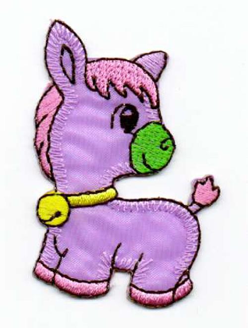 1 Applikation Pony Pferdchen 4 x 6,5cm Farbe: Lila AA469-40