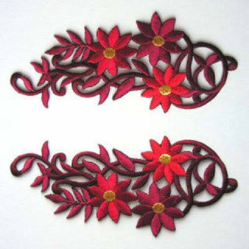 1 Paar Blumenapplikationen AA250-03