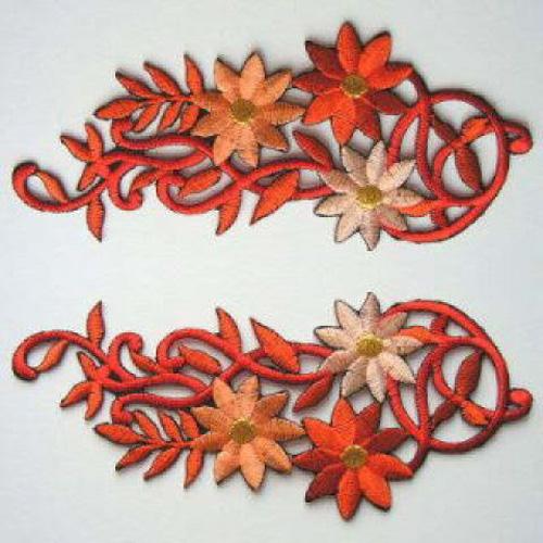 1 Paar Blumenapplikationen AA250-04