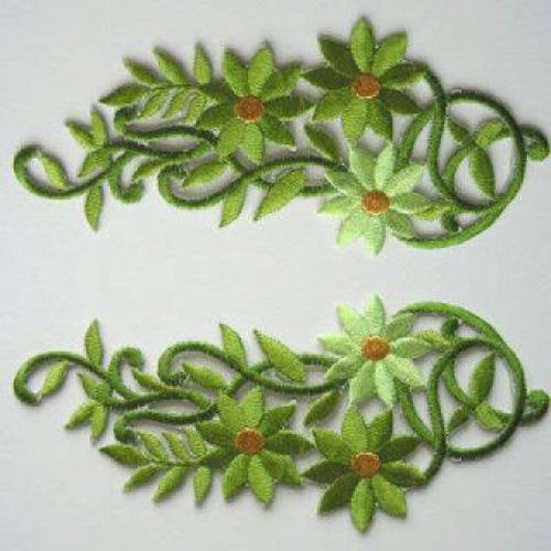 1 Paar Blumenapplikationen AA250-06