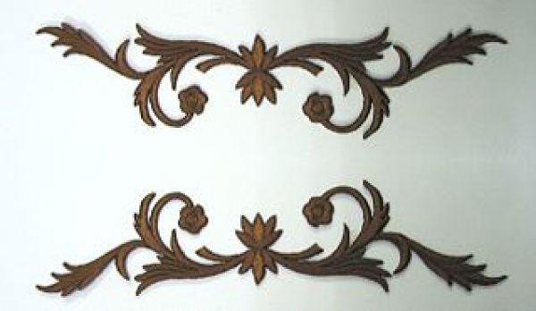 1 Paar historische Applikationen A23-5 Farbe: Braun