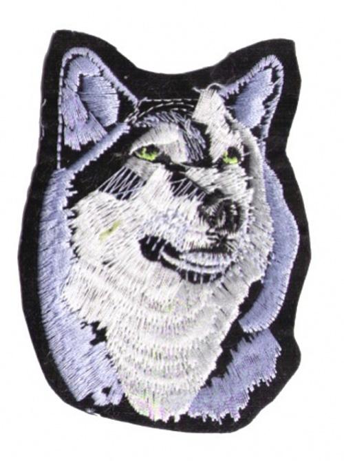 Applikation Patch Scrap-Tex Hund / Wolf 7 x 9,5 cm