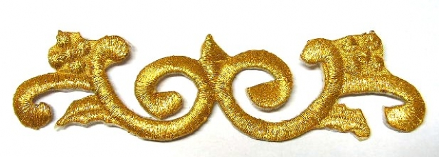 1 Stück Applikationen Tribal Patch Farbe: Gold 11,5 x 3,3cm