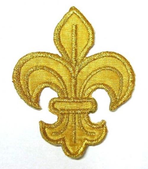 1 Stück Applikation Königs-Lilie 3 x 3,9cm Farbe: Gold