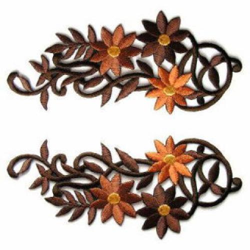 1 Paar Blumenapplikationen AA250-13