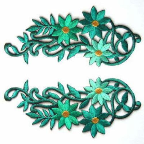 1 Paar Blumenapplikationen AA250-16