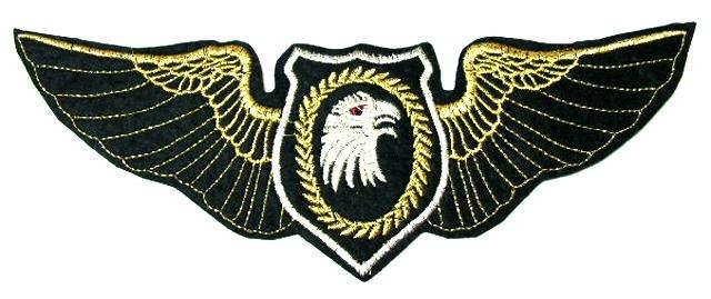 Applikation Adler 25,5 cm x 8,5 cm AA495-2