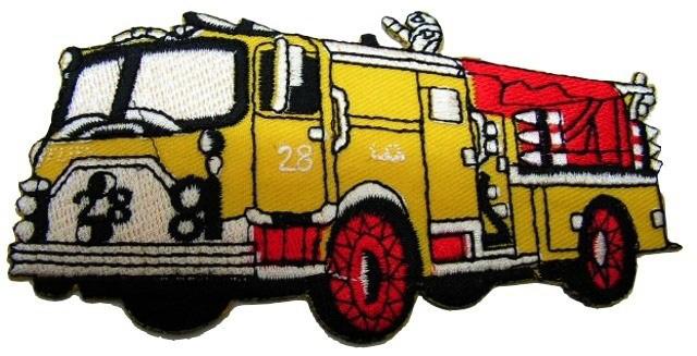 Applikation Sticker Patch Feuerwehr 11,5 x 6cm Farbe: Gelb