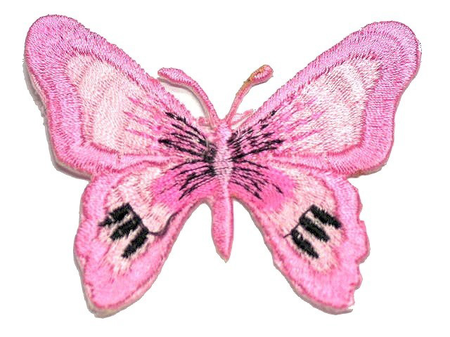 1 Applikation Patch Schmetterling Farbe: Rosa