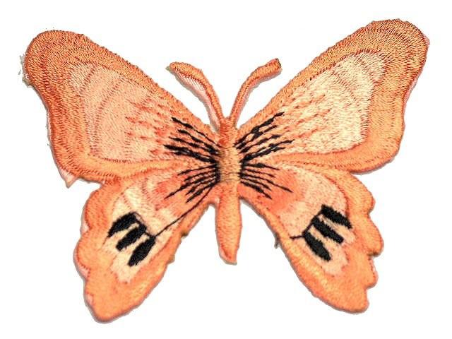 1 Applikation Patch Schmetterling Farbe: Fleischfarbend