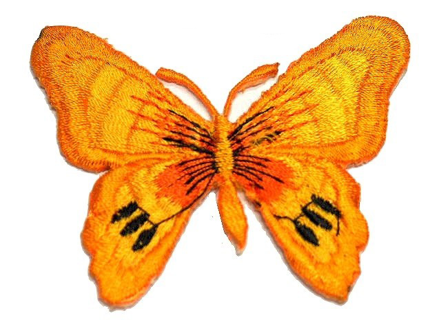 1 Applikation Patch Schmetterling Farbe: Orange