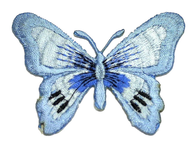 1 Applikation Patch Schmetterling Farbe: Hellblau