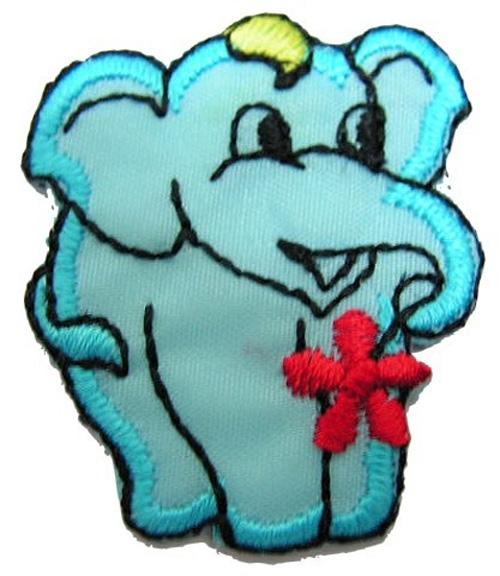 1 Stück Applikation Elefant 3 x 3,6cm Farbe: Türkis AA503-3
