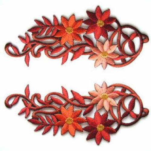 1 Paar Blumenapplikationen AA250-25