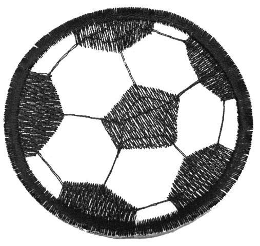 Applikation Patch Bügelmotiv Fußball Durchmesser 7,5 cm