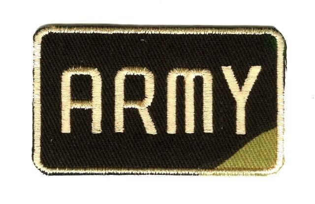 Applikation Patch Sticker Army 7x4,2cm  AA516-2