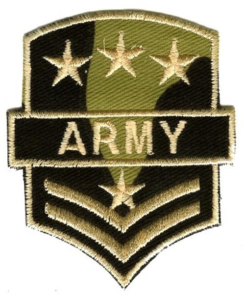 Applikation Patch Sticker Schulterstück Army 6,5x8cm