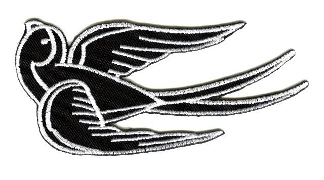 Applikation Tribal Schwalbe Farbe: Schwarz-Weiss 11 x 5cm