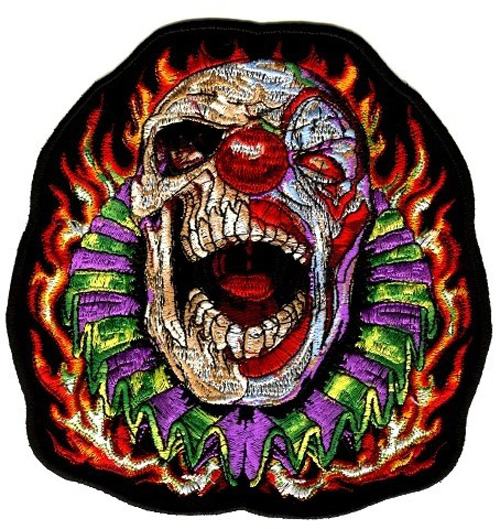Applikation Biker Tribal Clown 17 x 18 cm AF300-19