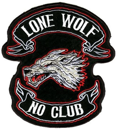 Applikation Biker Tribal Lone Wolf 15 x 17 cm