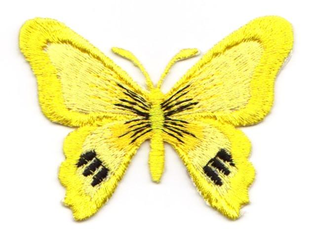1 Applikation Schmetterling 7 x 5,5cm Farbe: Gelb