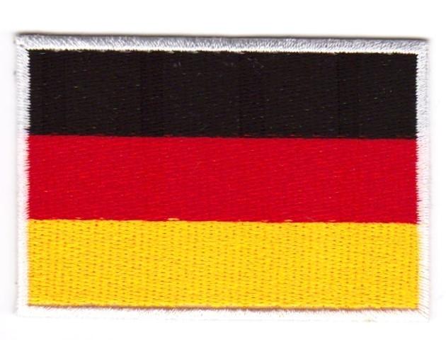 1 Aufnäher Sticker Patch Flagge Deutschland 3 x 2 cm