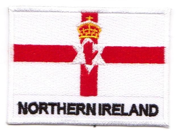 1 Aufnäher Sticker Patch Flagge Nordirland 6,8 x 5 cm