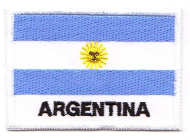 1 Aufnäher Sticker Patch Flagge Argentinien 7,2 x 4,9cm