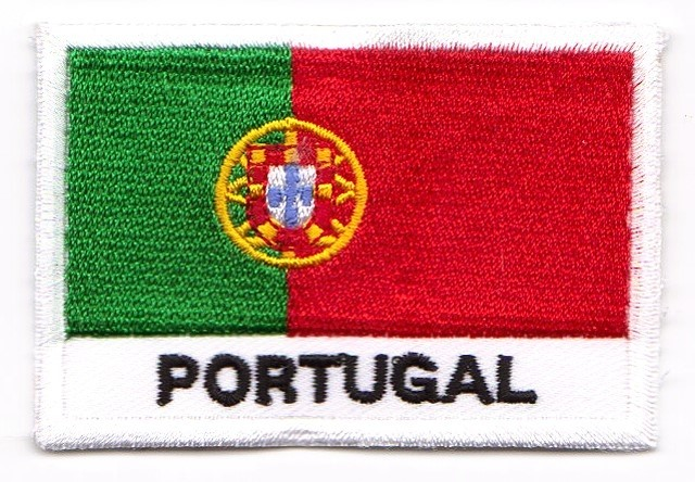 1 Aufnäher Sticker Patch Flagge Portugal 7,2 x 4,9 cm