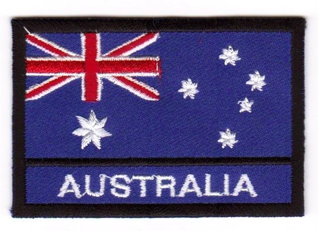 1 Aufnäher Sticker Patch Flagge Australien 7,2 x 4,8cm